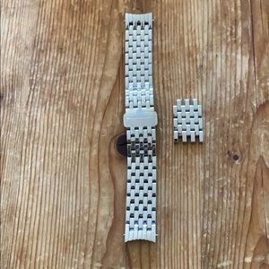 Michele 18 stainless steel watch band